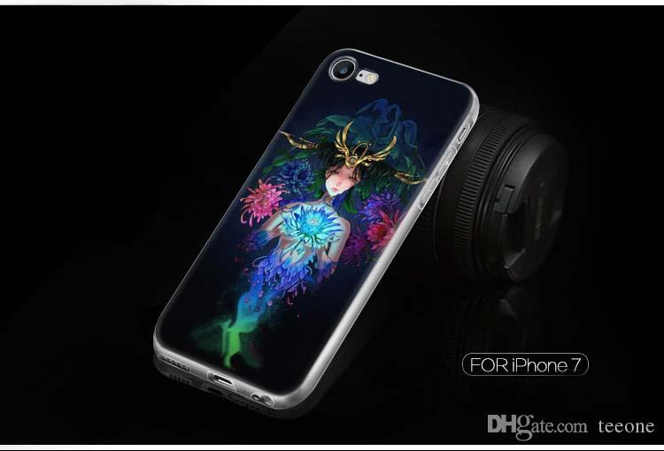 Iphone 7 7plus Constellation custodia morbida telefono cellulare caso di alta qualità TPU Creative Arts Casi tutto compreso Iphone 7 7plus