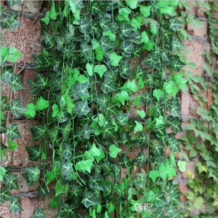 120Pcs /lot Home Wall Decor Artificial Silk Plastic Ivy Vine Hanging Plant Garlands Craft Supplies For Xmas Wedding Festival Decor
