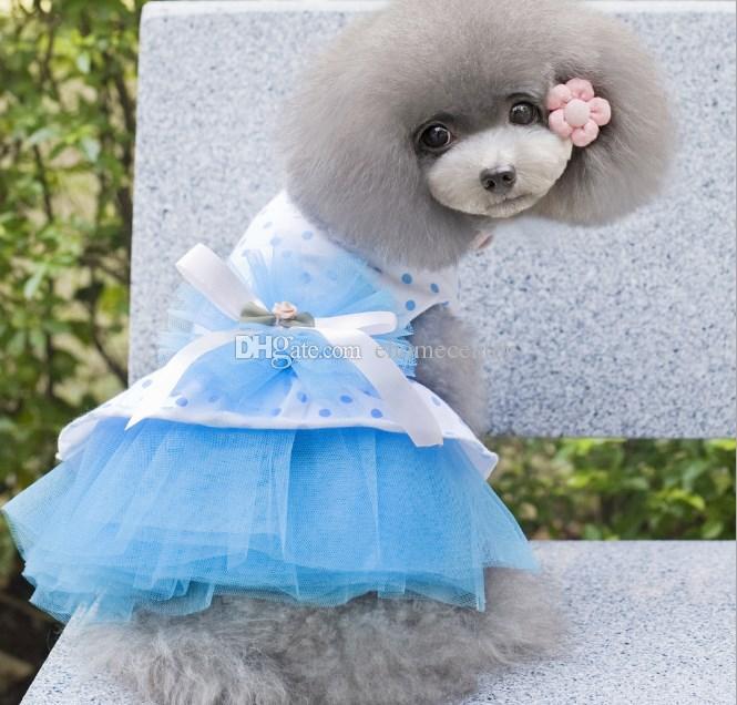 01a4e330c80f Acquista Piccolo Cane Tutu Gonne Vestire Abiti Da Compagnia Tulle Vestiti  Cani Abbigliamento Costume Carino Cane Principessa Vestire Vestiti Animali  Cane ...
