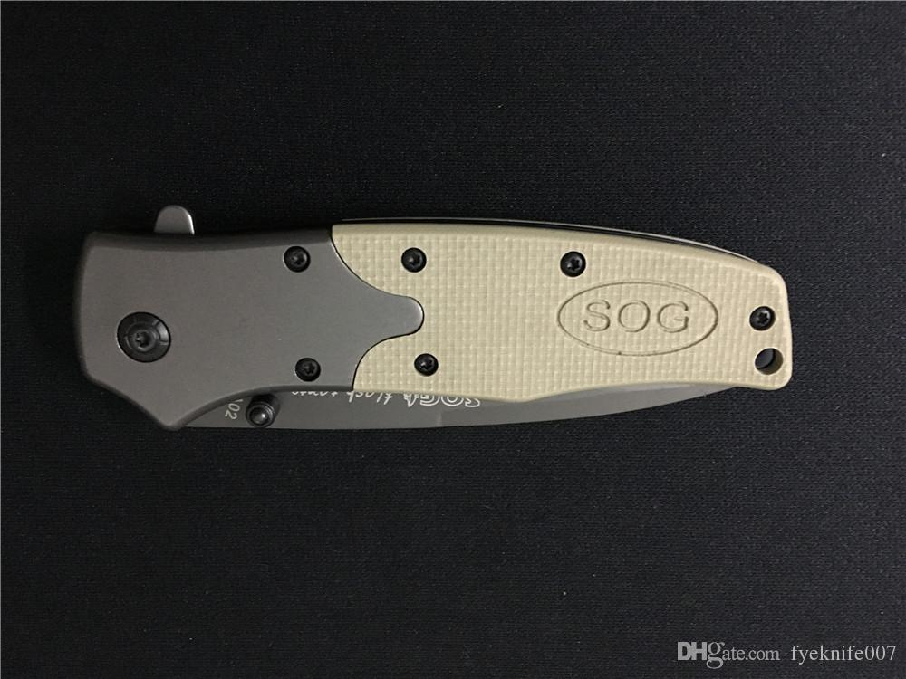 SOG folding blade knife open in a flash 5Cr13 Steel Tactical camping survival outdoor knive
