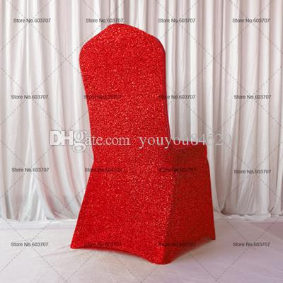 Colorful Glitter Banquet Lycra Chair Cover For Wedding,Party,Hotel Decoration Use With