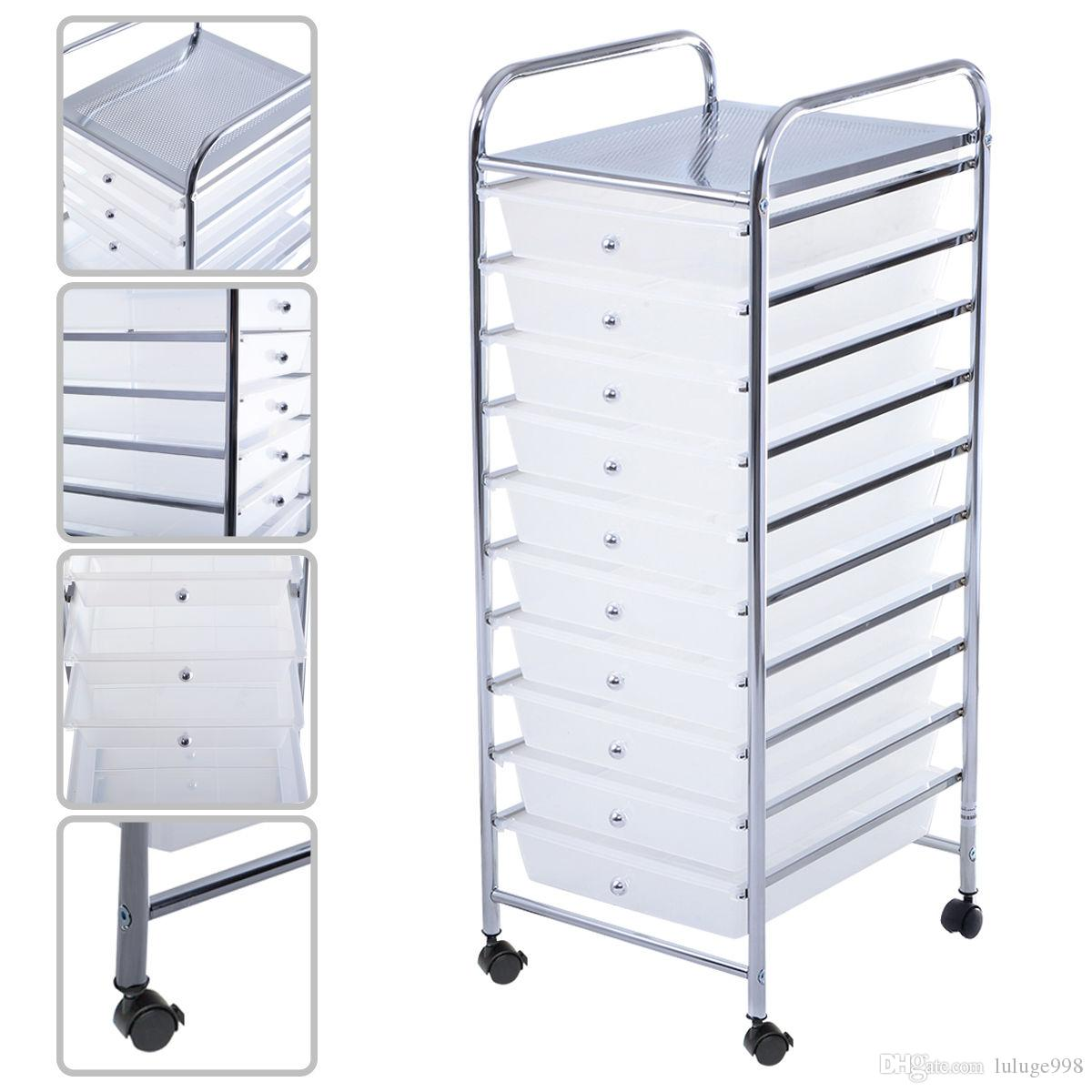Delicieux Online Cheap 10 Drawer Rolling Storage Cart Scrapbook Paper Office School  Organizer Clear By Luluge998 | Dhgate.Com