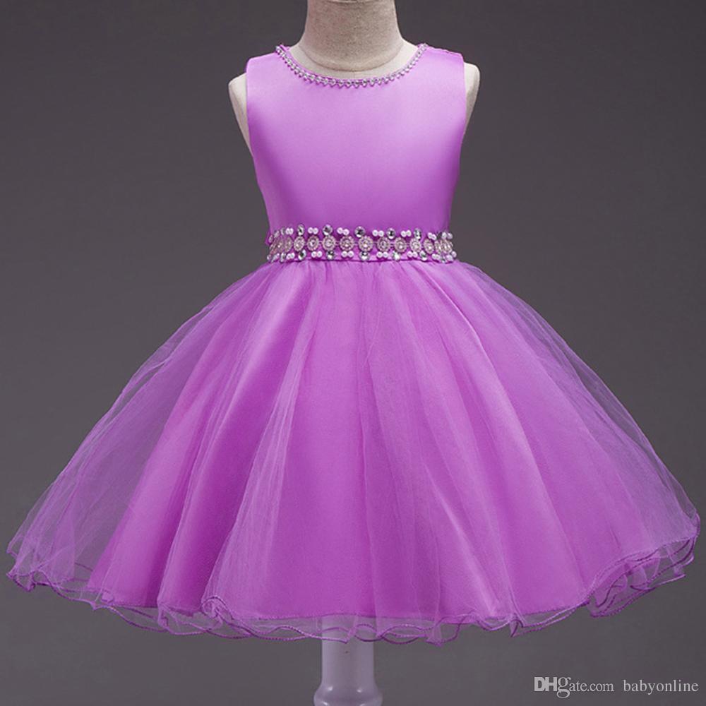 Chic Purple Toddler Little Girls Flower Girl Dresses Cheap 2017 ...