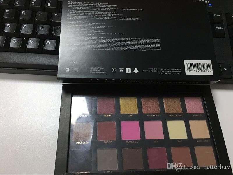 In Stock hot Chrismas Eyeshadow Rose Gold Textured Pallete Make up Eye shadow Palette top quality real pics