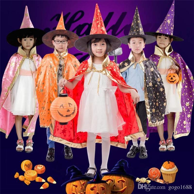 Acquista Costume Di Halloween Bambini Strega Con Mantello Con ... f8d83e7bef32