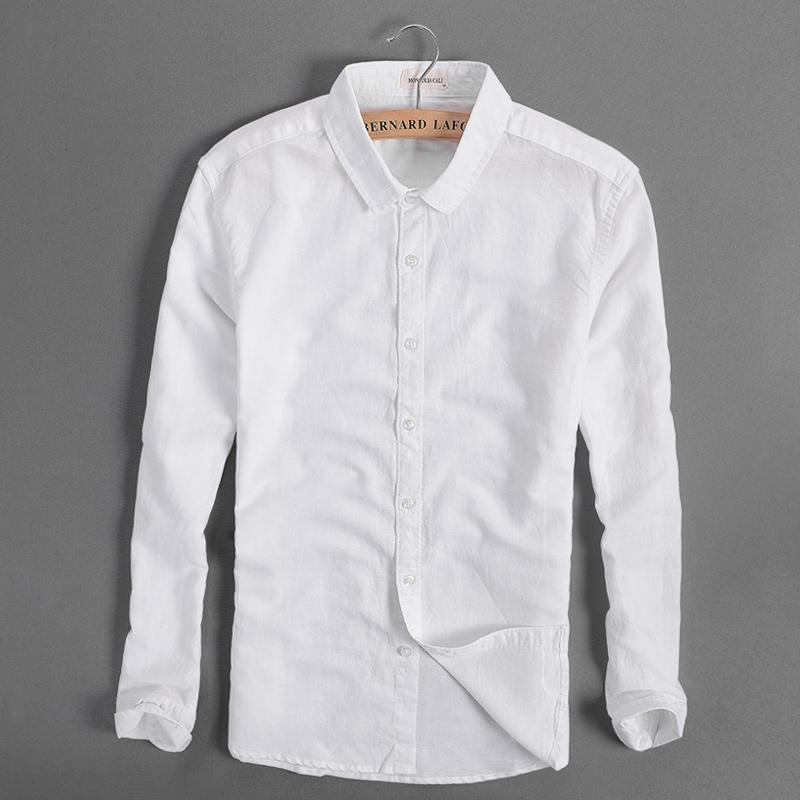 b262a8b512e 2019 Wholesale Morden Brand Shirt Men Cotton Fashion Men Shirts Linen  Summer White Shirt Mens Casual Clothing Man Shirts Camisa Masculina S 4XL  From Douban