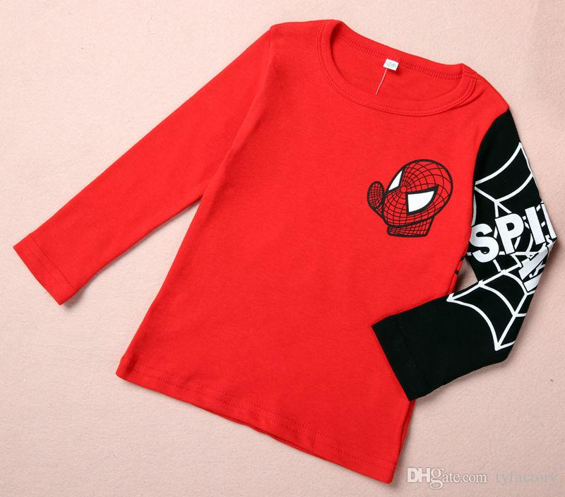 heiße verkaufende große Förderungjungenmädchen spiderman Kapuzenpullis langärmlige T-Shirts swearshirts Art und Weiseartoberseite beiläufige Sport outwear 3-8T