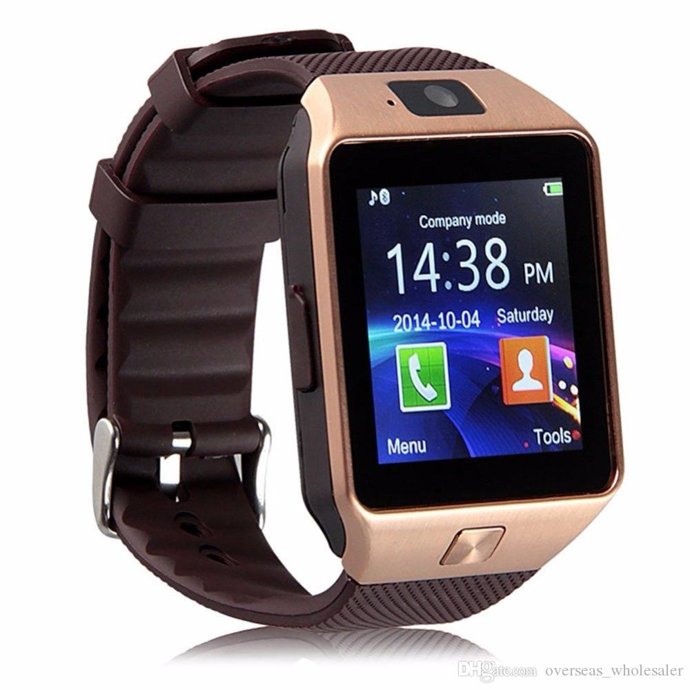 9618eb8e036 Compre Original Dz09 Smart Watch Dispositivos Wearable Do Bluetooth  Smartwatch Para Iphone Android Phone Watch Com Relógio Da Câmera Sim   Tf  Slot De ...