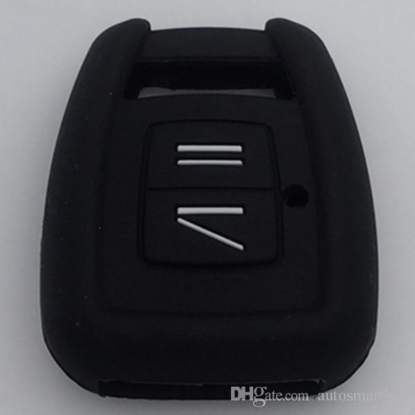 Wholesale Silicone rubber key fob cover skin set case shell protect foe Opel Astra Vauxhall Vectra 2 button remote key