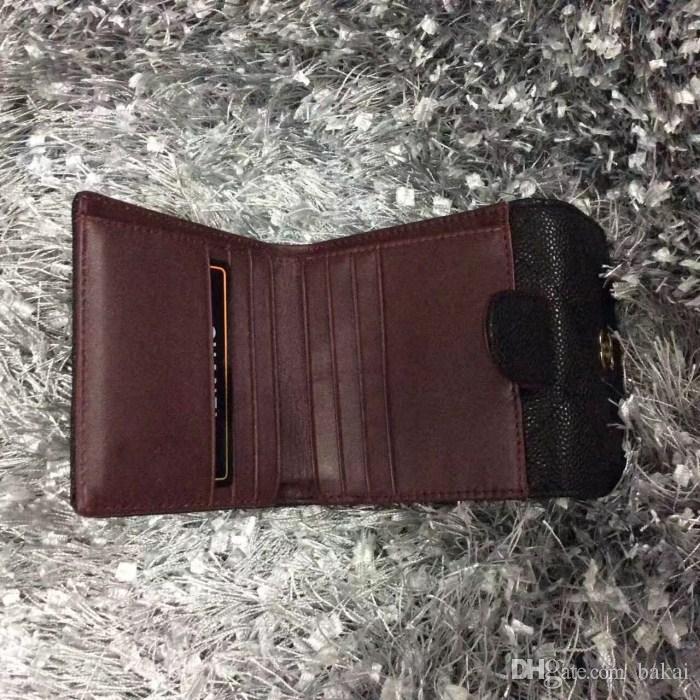 Sıcak satış ünlü marka gerçek Deri cüzdan Kadınlar klasik Lüks bayanlar mini cüzdan kart sahipleri Popüler bir kat çanta