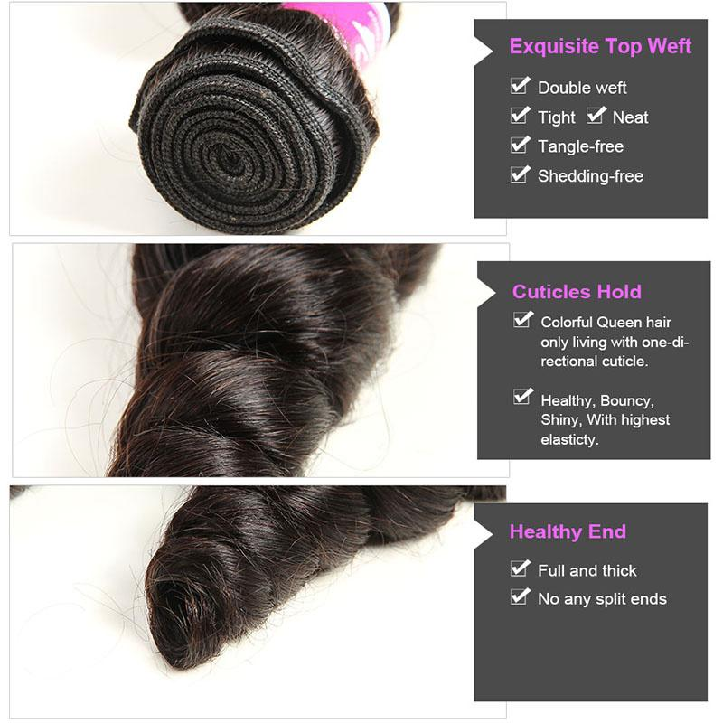 Cheap Peruvian Virgin Loose Wave Hair 4 Bundles Deals Grade 7A Virgin Human Hair Weft Natural Wet Wavy Peruvian Loose Curly Hair Weave