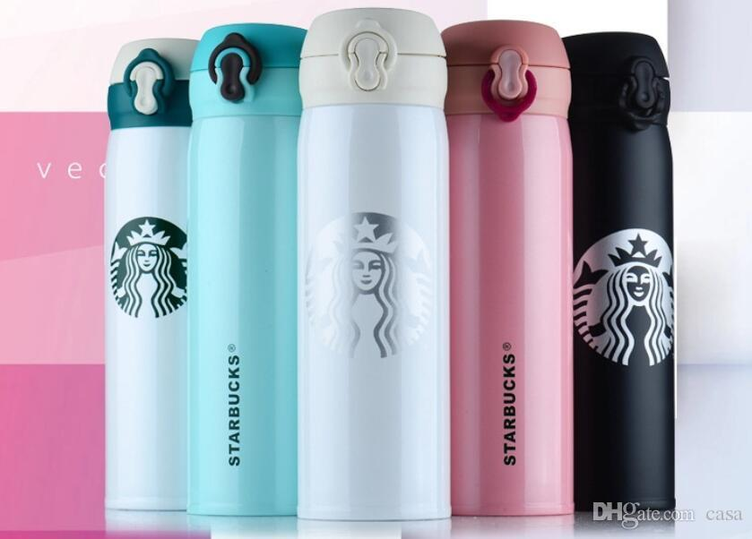 5f9b38f8b8d 304 Stainless Steel Starbucks Portable Cups Coffee Water Cup Insulation  Vacuum Cars Beer Mugs 450ml 100pcs