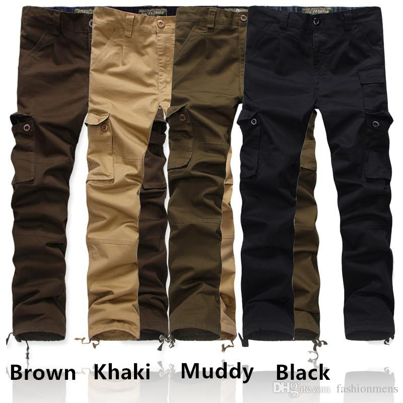 2019 Plus Size Mens Cargo Pants Fashion Casual Military Army Cargo