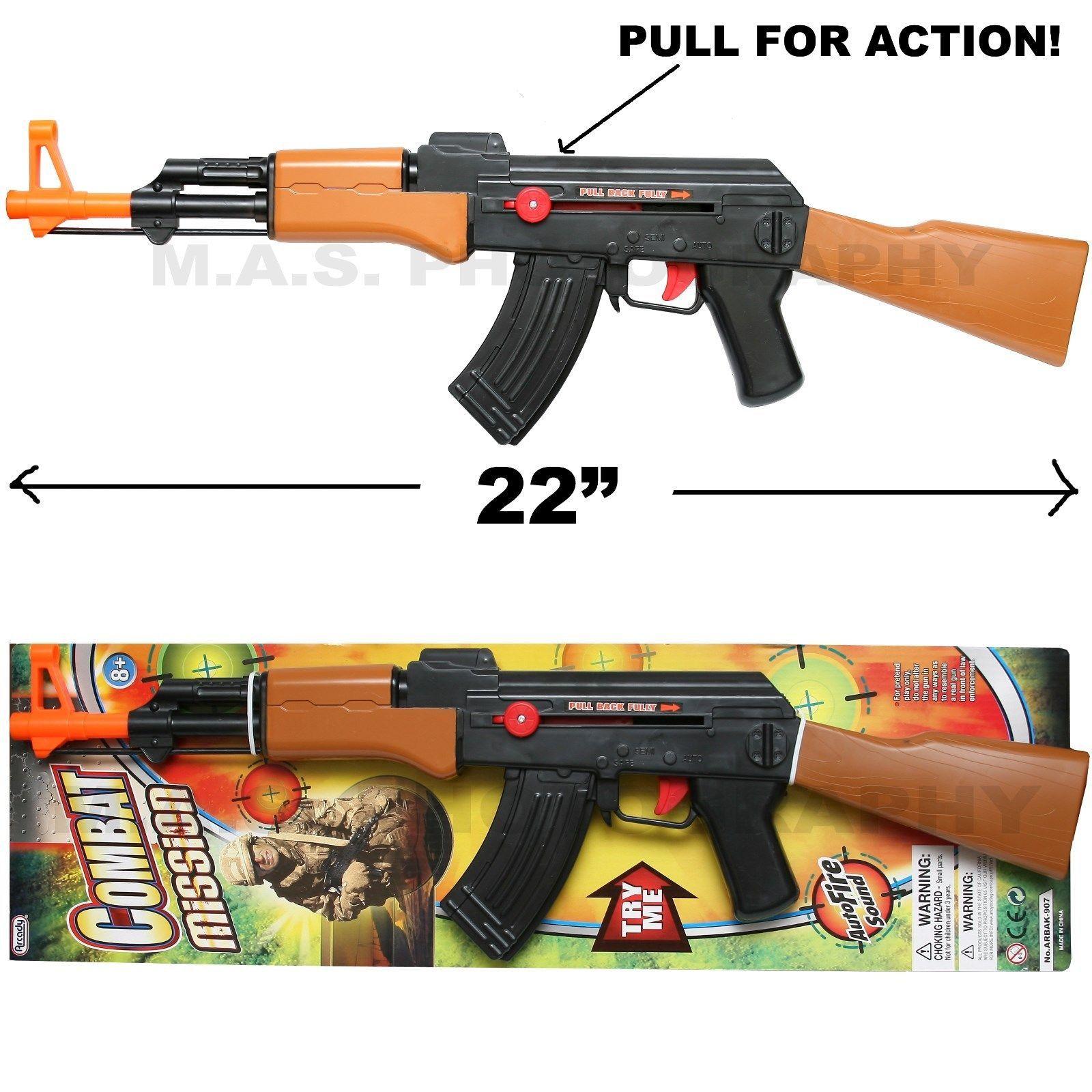 2018 Ak 47 Toy Assault Rifle Kid Boy Machine Gun Sound Military