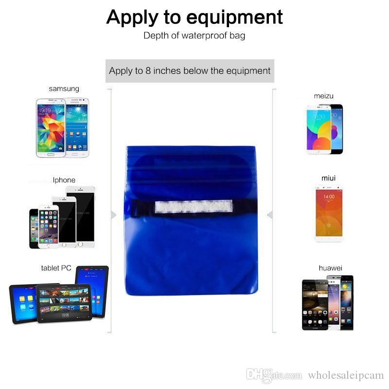 Evrensel Bel Paketi Su Geçirmez Kılıf Için Kılıf Su Geçirmez Çanta Sualtı Cep Kapak Cep Telefonu Cep Telefonu Samsung Iphone Para
