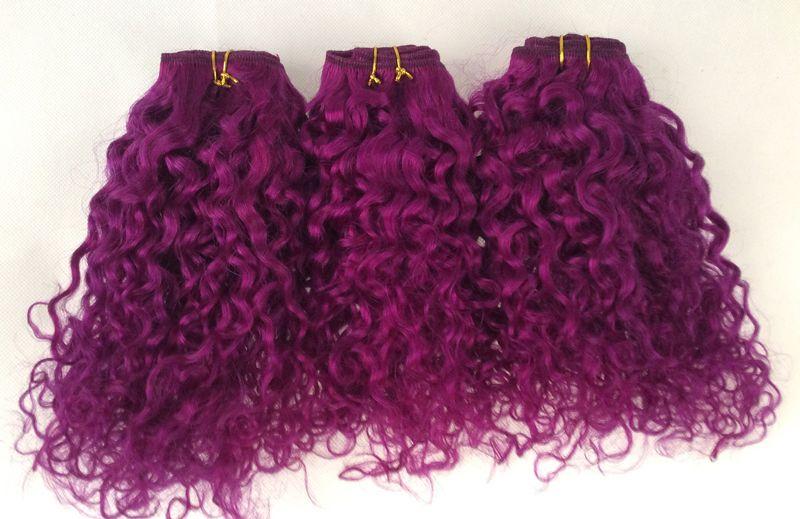 50g Bundle Brazillian Virgin Hair Bebe Curl Purple Brazilian Virgin