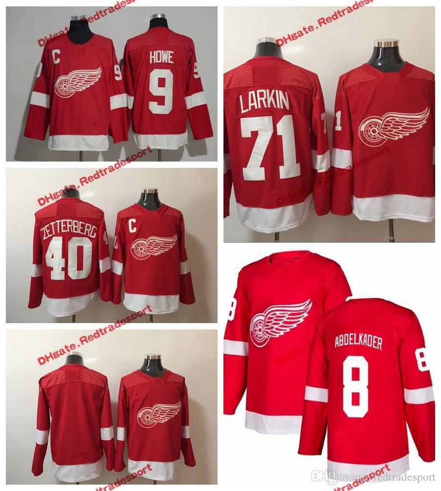 2018 AD Detroit Red Wings Hockey Jerseys 8 Justin Abdelkader 71 Dylan Larkin  40 Henrik Zetterberg 9 Gordie Howe 19 Steve Yzerman Jerseys Dylan Larkin  Jersey ... 8eb74a925