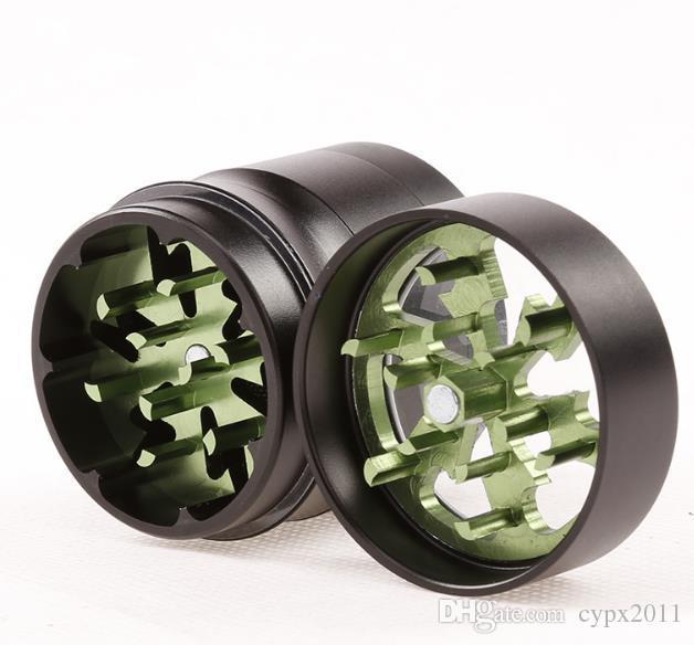 Orificio de iluminación de aleación de aluminio de cuatro capas de 55 mm 63 mm en el lado sin moletear humo