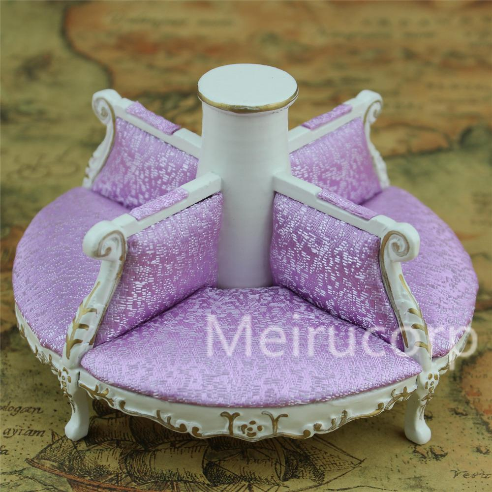 Groovy Wholesale Dollshouse 1 12 Scale Miniature Furniture Handmade Gilt Round Four Seats Sofa Download Free Architecture Designs Scobabritishbridgeorg