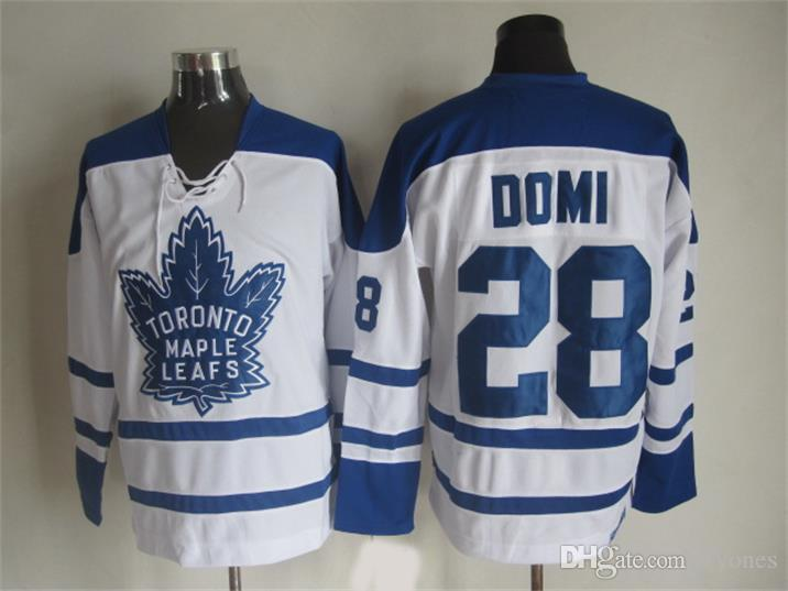 Toronto Maple Leafs Tie Domi Hockey Jerseys 2002 CCM Vintage 28 Tie Domi Jersey New York Rangers Cheap Stitched 75th Patch