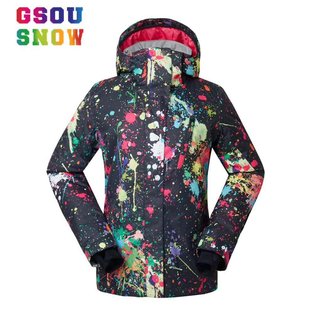 a916324319 Wholesale- Gsou Snow Women Snowboard Jacket Warm Breathable Ski ...