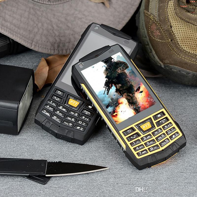 Refurbished phone N2 Android 6.0 Waterproof Smartphone IP68 Walkie Talkie NFC GPS MTK6580 Quad core 1GBRAM 3.5 inch 5MP WCDM mobile phone