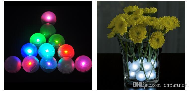 الصمام ميض البسيطة ليلة ضوء بطارية تعمل التوت 2CM العائم LED الكرة الخيالية لؤلؤة حصول على حفل زفاف الأحداث الديكور الخفيفة