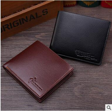 Wholesale Man PU Wallets Purse High Quality Leather Wallets Card Holders  Thin Easy To Carry Wallets Clutch Father s Day Free Shipping