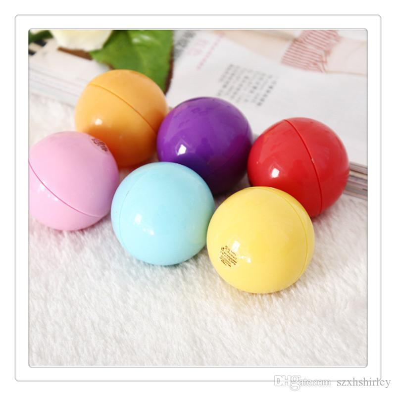 New 3D Lip Balm Round Ball Makeup Lipstick Moisturizing Natural Plant Sphere Fruit Lip Pomade Gloss Embellish Lip Care Tools