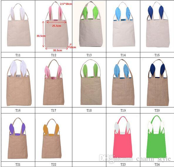 Easter decoration supplies easter gift bag jute and cotton burlap easter decoration supplies easter gift bag jute and cotton burlap material rabbit ear shape bags for child gifts packing fabric gift bags bags wholesale negle Images