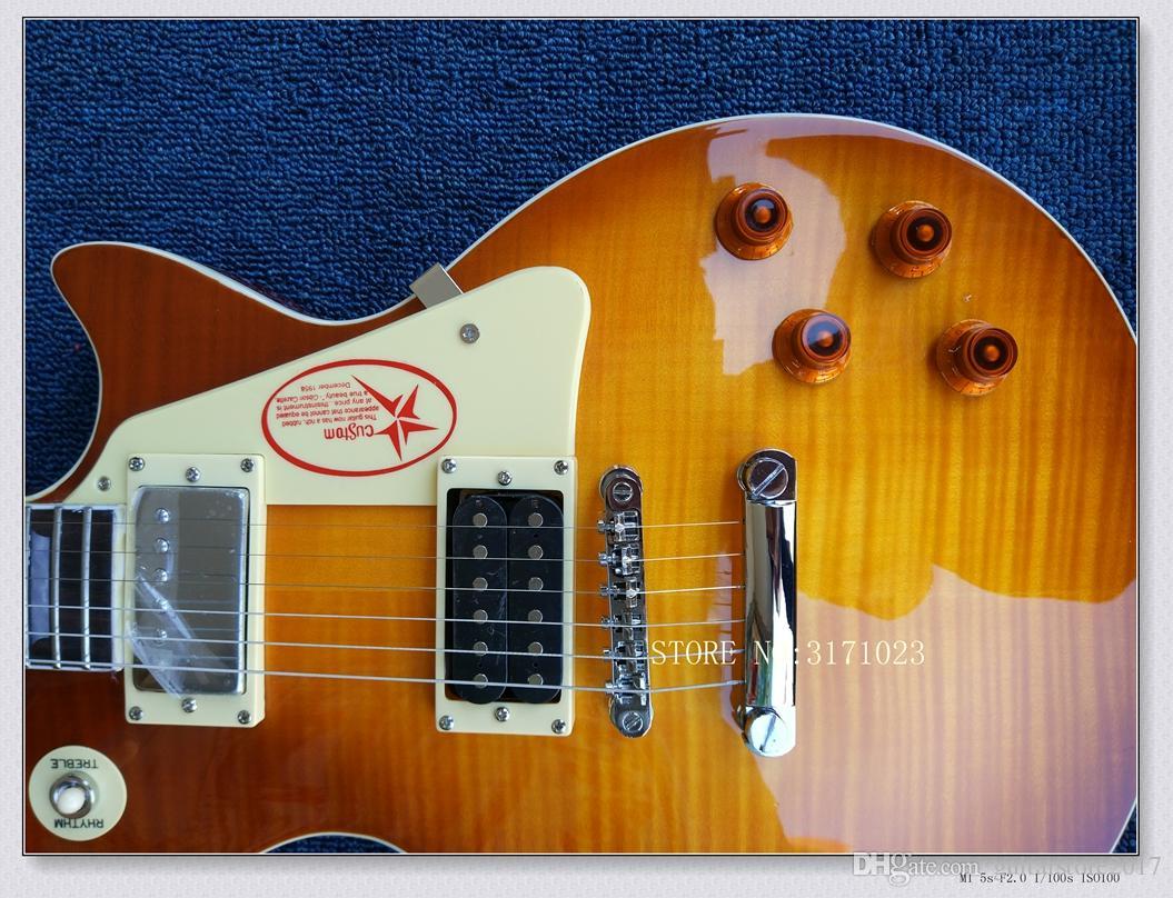 Commercio all'ingrosso del corpo di mogano della chitarra elettrica di numero della pagina di Jimmy del negozio dalla Cina