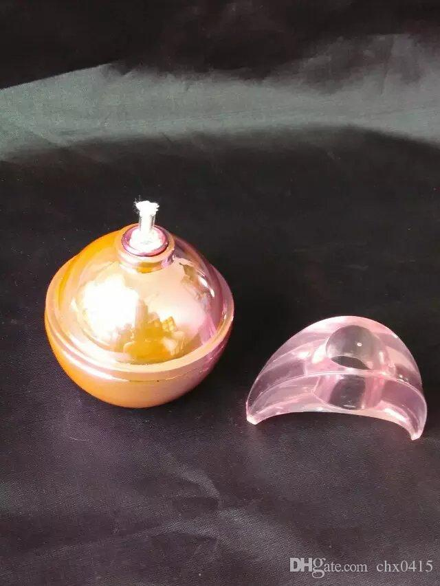 달걀 알코올 램프 유리 봉 액세서리, 독특한 기름 버너 유리 파이프 물 파이프 유리 파이프 석유 굴 착 기와 Dropper