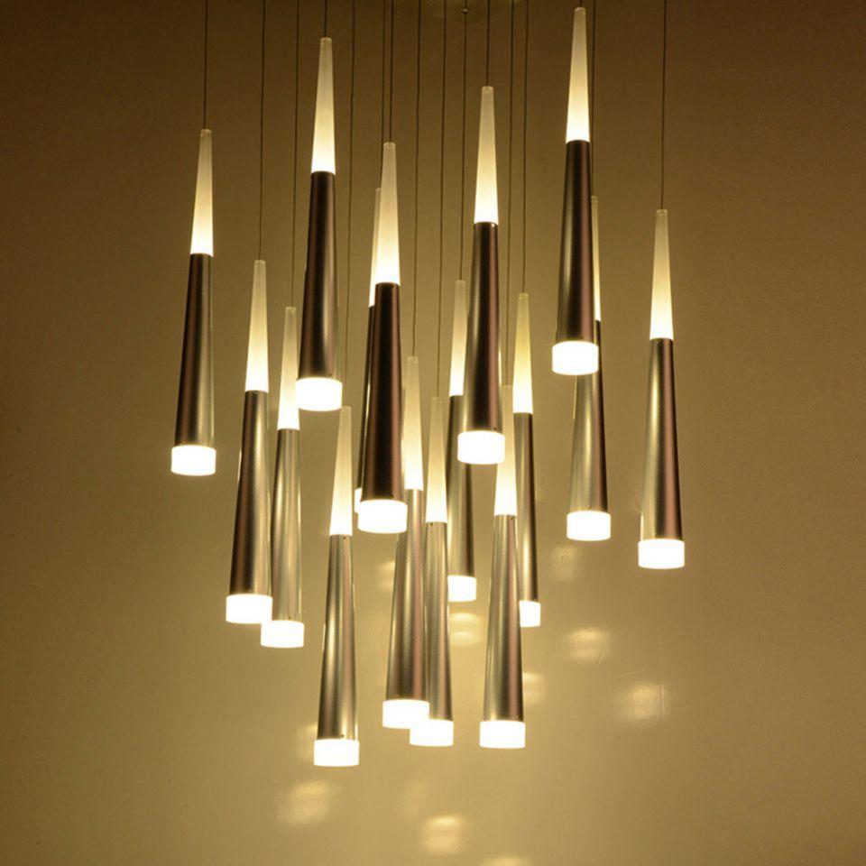 Deckenleuchten Büromöbel Led Hängeleuchte Pendelleuchte Esszimmer Küche Deckenlampe Kronleuchter D4 Die Neueste Mode