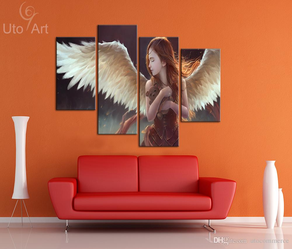 Modern Canvas Art Wall Decoration Painting Custom Canvas Angel Decorative Picture Digital Printing for Kid's Room Decor