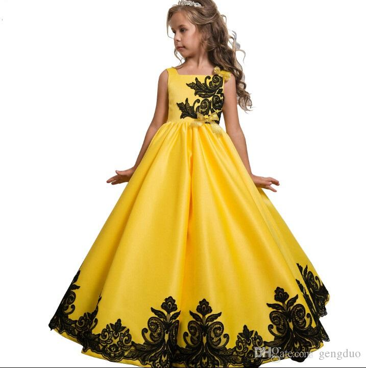 2018 Upscale Prom Long Dress For Teens Kids Girls Wedding Flower