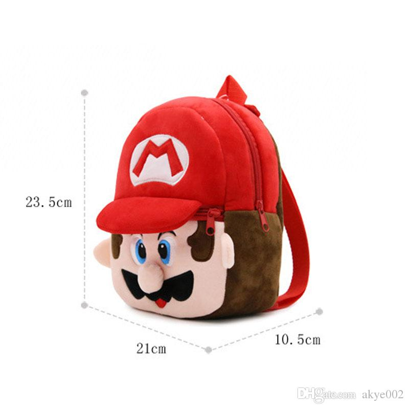 21 * 23.5 CM My Neighbor Totoro Pikahcu Super Mario Cartoon Mario Luigi Peluche Zaino Spider-man Giocattolo Mini School Bag Bambino Borse Studenti A001