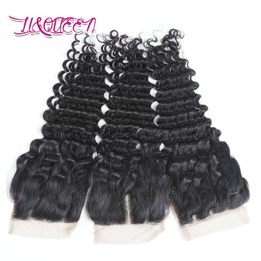 Монгольские волосы глубокой волны Человеческие волосы 4x4 Закрытие кружева Непеределанные наращивания волос Натуральный цвет Верхняя кружевная застежка Глубокая волна Curly Virgin Hair
