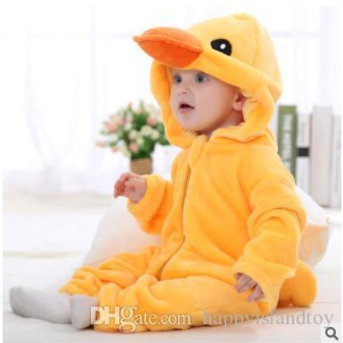 bb172565c98b Animal Baby Romper Boy Girl KT Cat Cartoon Jumpsuit Pajamas Warm ...