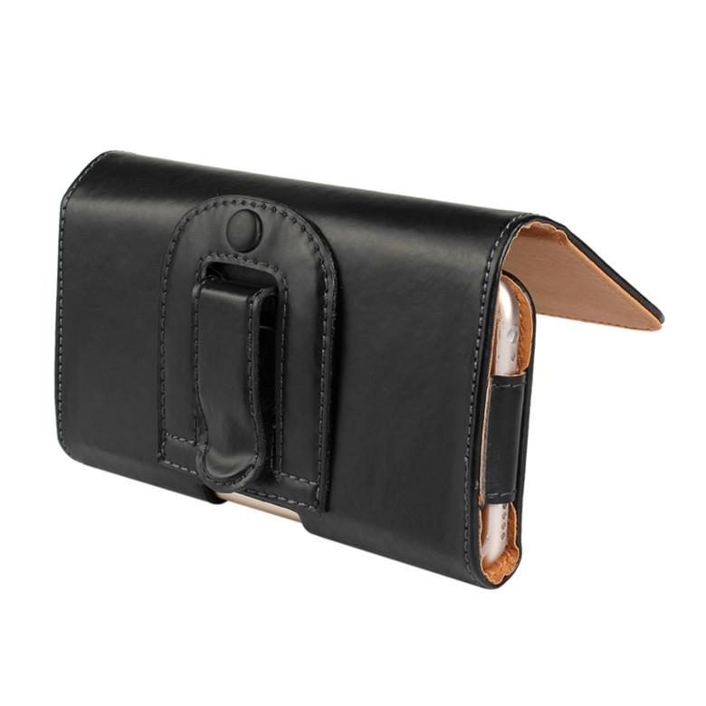 Lichee Pattern PU Leather Flip Case Waist Holder Hang Pocket Belt Clip Leather Case for iPhone 5 6s 6 plus 7 7plus Samsung S6 S6 edge S7