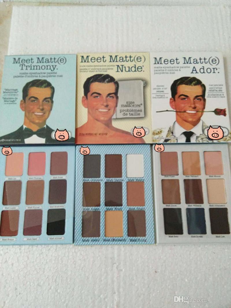 Vente chaude Fard À Paupières La Marque Rencontrez Matt e Trimony Nude Ador Fard À Paupières 9 couleurs Palette EyeShadow Face Bronzer Beauté Maquillage Blender