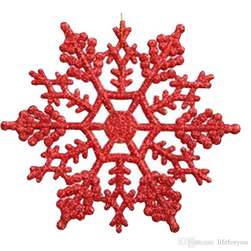 Flocon de neige acrylique de 10cm pour les ornements de noël décoration de noël décorations de fête, 7 couleurs pour votre choix
