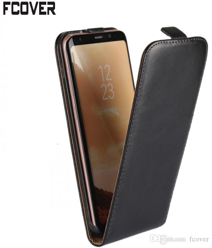 For Samsung Galaxy S8 Plus Flip Case,Genuine Leather Case ...