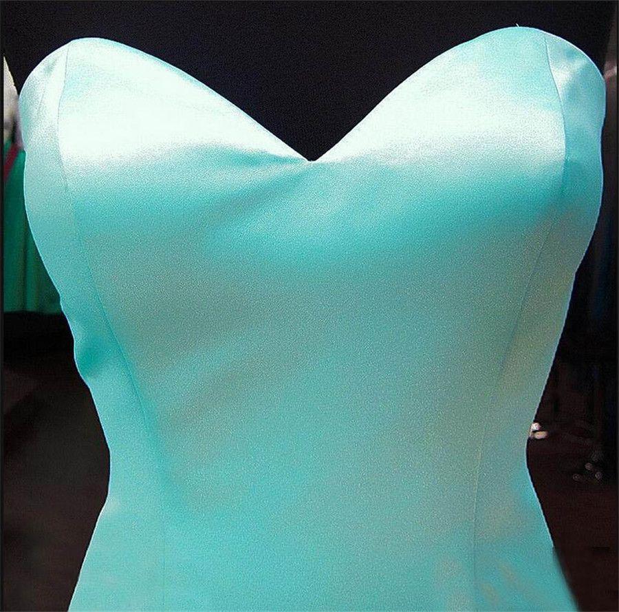Schatz Satin Rüschen Organza Teesn Formale Abendkleider Senioren Abendkleider Nach Maß Mint Mermaid Prom Dresses