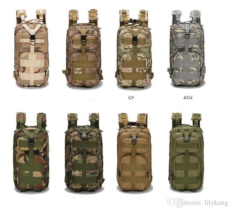 30L 3P mochila à prova d 'água ao ar livre trekking acampamento tático esportes mochilas mochilas bolsa clássico ciclismo exército camo deve saco multi cor