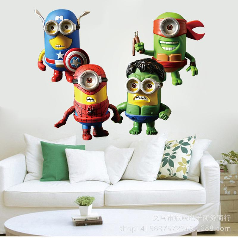 Lego Avengers Minions Wall Stickers Decals Art For Baby Nursery - Lego superhero wall decals
