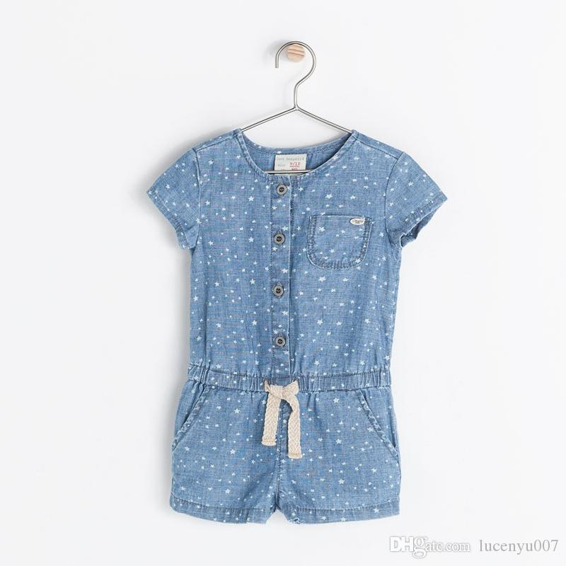89579c79c7d 2019 0 2Y No Sleep Romper Baby Girl Short Romper Infant Jeans Jumpsuit Denim  Overalls Shortalls Short Sleeved Jumpsuit Pentacle Free Shpping From  Lucenyu007 ...