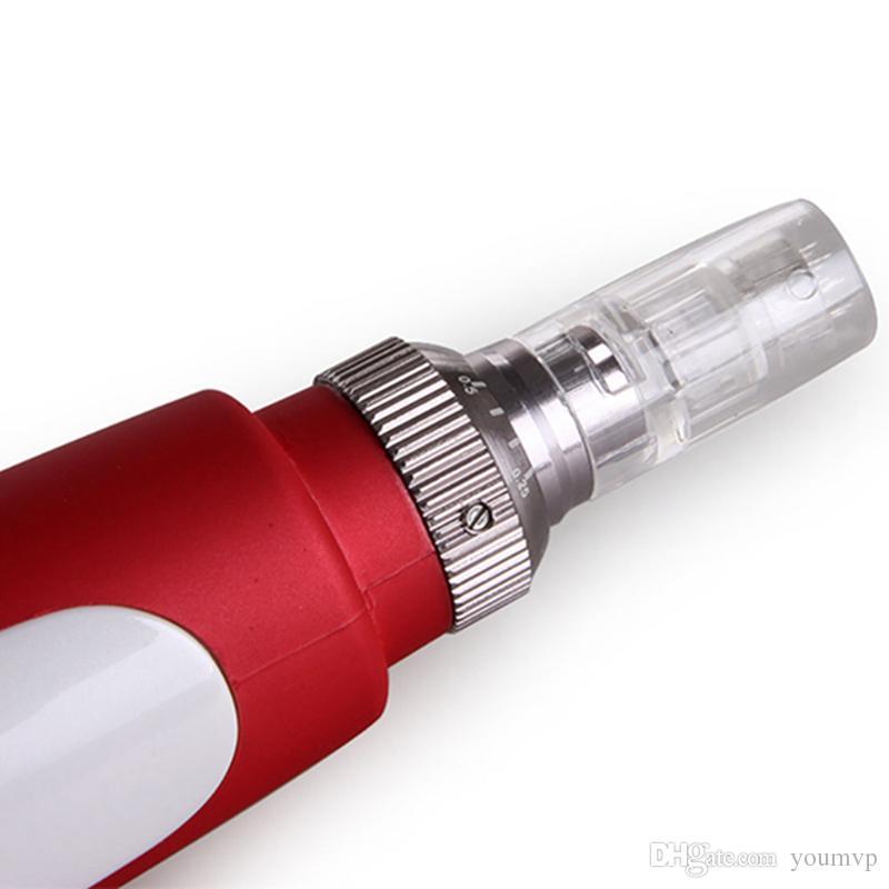 MYM 더마 펜 전기 N2-C 더마 펜 스탬프 자동 마이크로 니들 롤러 스킨 케어 도구