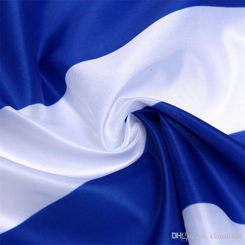 90 * 150cm Griechenland-Flagge Banner - Lebendige Farben und UV-lichtbeständig - 100% Polyester griechische Nationalflaggen mit Messingösen
