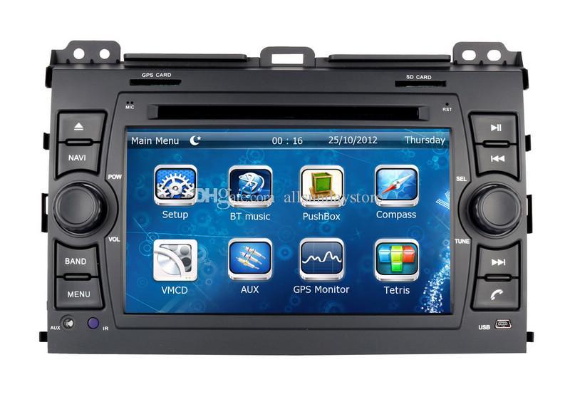 Head Unit Car DVD Player for Toyota Prado 2002 2003 2004 2005 2006 2007 2008 2009 with GPS Navigation Radio BT USB MP3