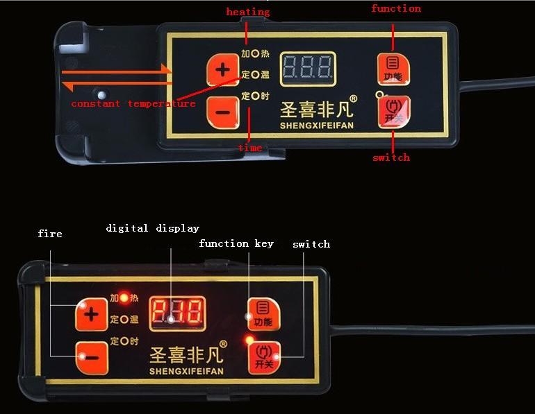 냄비 레스토랑 상업 288mm 스틸 링 내장 된 데스크탑 듀얼 사용 inductioncooker와 원형 전자로 220V를 내장